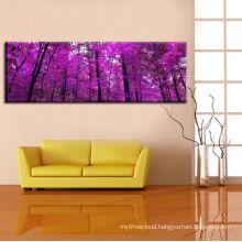 Purple Trees Art Print On Cotton Canvas Graphic