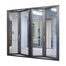 WANJIA Folding doors glass accordion kitchen custom aluminum bi fold door