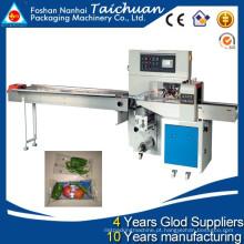 TCZB-250 para baixo papel Automático fluxo horizontal embalagem legumes frescos máquina de embalagem preço