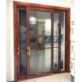 Chinese supplier 120 series 2.0mm aluminium heavy duty aluminium sliding door with grid