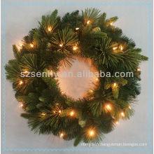 Couronne de Noël décorative avec feux à LED
