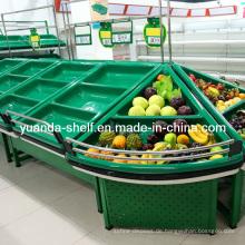 Metallfrucht-Gemüsespeicher-Präsentationsständer für Supermarkt