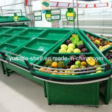 Metal Fruit Vegetable Storage Display Rack for Supermarket