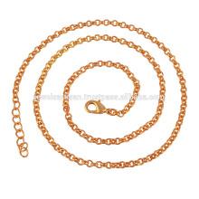 Cadeia de Moda de Enfeite de Ouro 18K