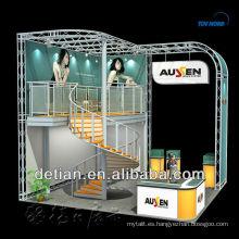 stand de cabina doble para exposición