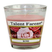 Soja-duftende Rosen-Glas-Kerze