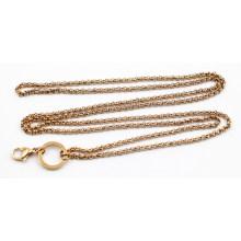 Hot Selling Gold Gold plaqué chaîne de perles de 3 mm