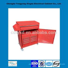 caja de herramientas de metal de almacenamiento de precisión de fábrica de China con ruedas