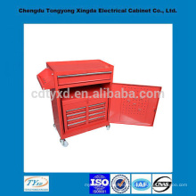 Chine usine précision stockage personnalisé boîte à outils en métal avec des roues