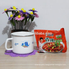 Enamel personalised milk and tea mugs