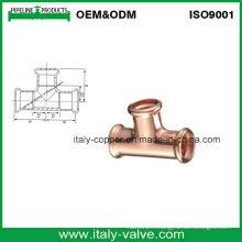Tête de pression en cuivre égale pour système de chauffage (AV8053)