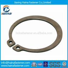 Proveedor Chino Mejor Precio DIN471 Acero al carbono Anillos de retención para ejes-Tipo normal y tipo pesado con dacromet / zincado