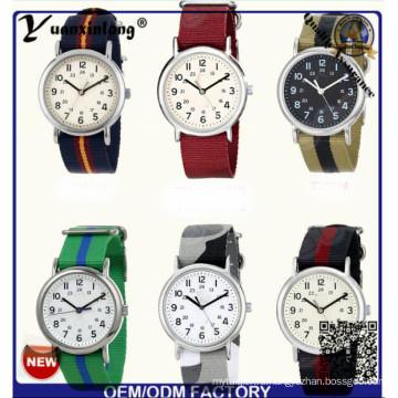 Yxl-123 Простой Дизайн Нейлон НАТО Дамы Платье Часы Кварцевые Спортивные Наручные Часы Дамы Моды Часы Мужчины Завод