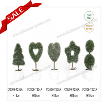 H10-19cm Custom Artificial Topiary Palm Tree PE + PVC Home Decor