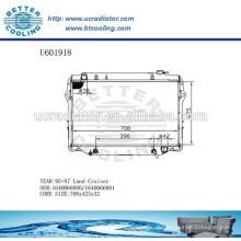 Radiateur pour TOYOTA LAND CRUISER 95-97 1640066080/1640066081 Fabricant et vente directe