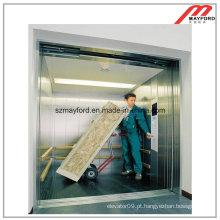 Elevador de frete oposto à porta durável com a máquina sem casa