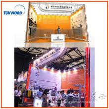 exhibition booth stand design and producer with floor system in Shanghai