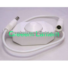 white led dimmer with DC plug for single color led strip