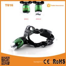 T816 High Power LED Headlamp Adjustable Zoom Focus Best Selling LED Headlamp