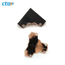 Wholesale high quality bag accessories metal corner protector for bags corner protector for handbags