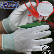 NMSAFETY esd heat-resistant palm fit pu glove