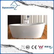 Bathroom Oval Solid Surface Freestanding Bathtub (AB6590)