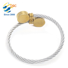 Simple design stainless steel materials silver wire thread bracelet