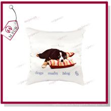 Capa de almofada macia sublimação Printable branco poli