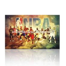 Imagen de la pared del cartel de la NBA / regalo para los muchachos / equipo de baloncesto Pintura de la imagen de la lona