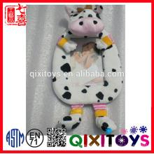 peluche en peluche douce vache jouet bébé photo cadre photo en gros