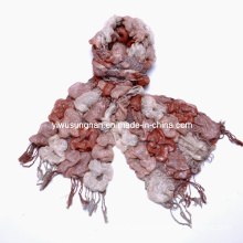 Hot Fashion Multi-Toned Chunky Checked Ruffle Scarves (SNSZQ1011-1)