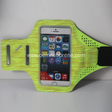 Customized logo lycra running reflective armband phone cases