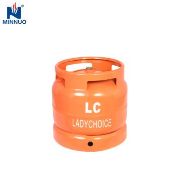 Cylindre d'acier au gaz LPG 6KG, bouteille de gaz
