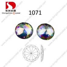 Piedra de cristal trasera plana redonda de la piedra cristalina del AB de 30m m para la venta al por mayor