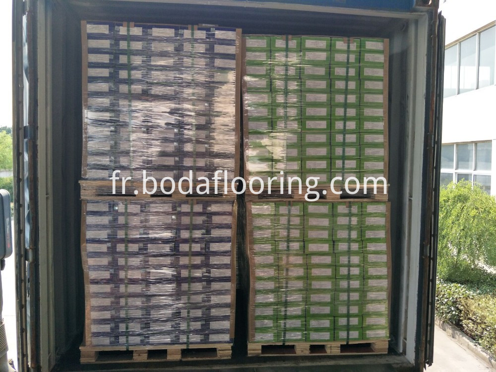 Container Of Spc Flooring Tiles
