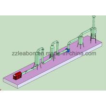 Secado de tubería de biomasa aprobado CE Equipo de secado de aserrín