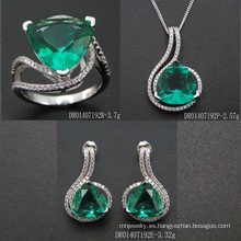 Hot Sell Green Spinel Jewelry Set