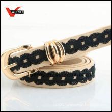 New design lace stitching belts