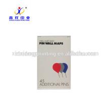 Boîtes en carton adaptées aux besoins du client pour la coutume d'emballage de Pin de carte disponible