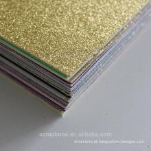 2016 moda alibaba china fornecedor textura grossa holográfico cartão de Natal com cor de todos os tipos