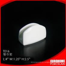 productos únicos 2016 del sostenedor de la servilleta moderno blanco de china