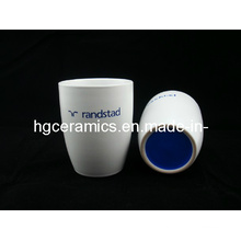 Laser Engraved Ceramic Mug, No Handle, Coffee Mug