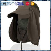 Fábrica de fornecimento personalizado design chapéu de pesca ao ar livre entrega mais rápida