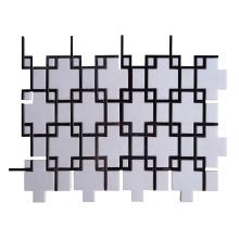 White Marble Floor Mosaic Tile Thassos Kitchen Backsplash Tile Black And White Mosaic Tiles
