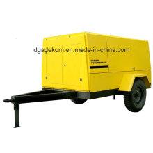 Outdoor Road Building Diesel Engine Driven Portable Screw Compressor (PUD10-07)
