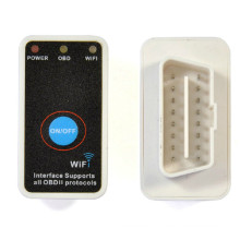 Мини Elm327 WiFi OBD2 автомобиль диагностики сканер + выключатель питания