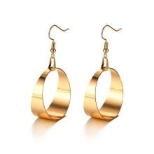 Stainless steel large rose gold hoop earrings
