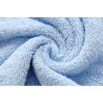 Luxury Blue Bath Bath Towels dengan Double Satin