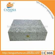 CWM-CH Роскошный подарок Белая перламутровая коробка для увлажнителя сигары