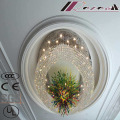 Lámpara de gran tamaño de lujo redonda y Morden Crystal Project para la decoración del hotel